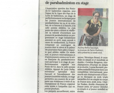 Article Stage Parabadminton